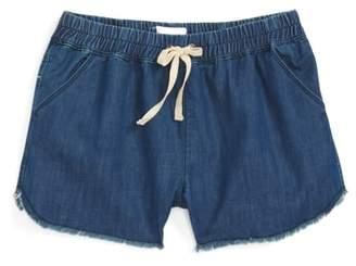 Hudson Frayed Denim Jog Shorts