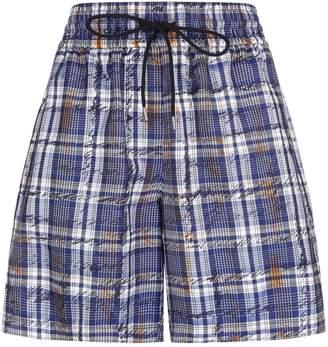 Burberry Scribble Check Silk Shorts