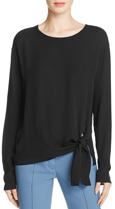Theory Serah Silk Georgette Blouse $275 thestylecure.com