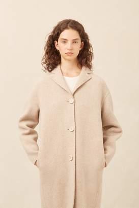 Mansur Gavriel Boiled Wool Classic Coat - Beige Melange