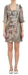 Mayle Maison MAISON WOMEN'S VALENTINA FLORAL-PRINT SILK SATIN DRESS