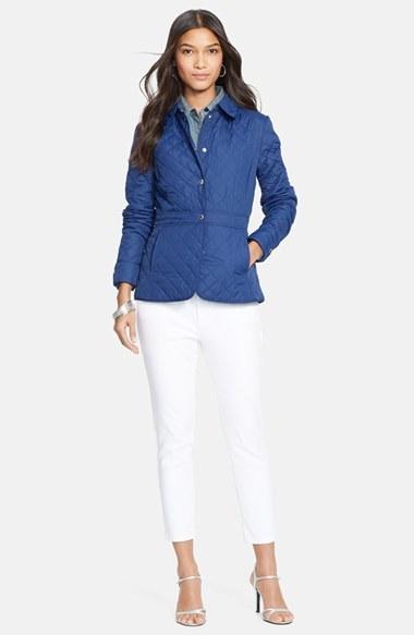Lauren Ralph Lauren Peplum Hem Quilted Jacket