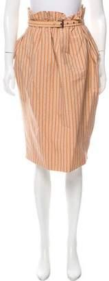 Bottega Veneta Printed Ruffle Skirt w/ Tags
