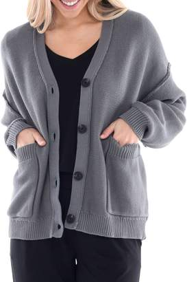 Paper Label Lucent Nova Loose-Fit Cotton Cardigan