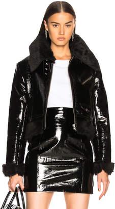 Miss Sixty Palmer Girls X Patent Leather & Faux Fur Jacket