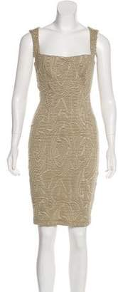 Kimberly Ovitz Embossed Bodycon Dress