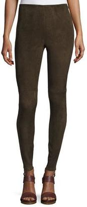 Ralph Lauren Collection Suede Ankle-Zip Leggings, Olive $1,990 thestylecure.com