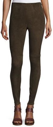 Ralph Lauren Collection Suede Ankle-Zip Leggings, Olive $1,990 thestylecure.com