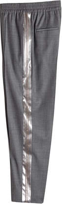 Brunello Cucinelli Virgin Wool Pants with Satin