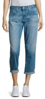 AG Adriano Goldschmied Ex-Boyfriend Rolled Cropped Jeans