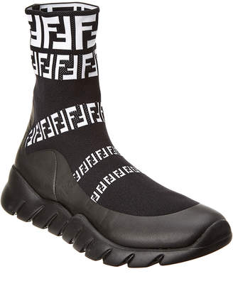 Fendi High-Top Sock Sneaker