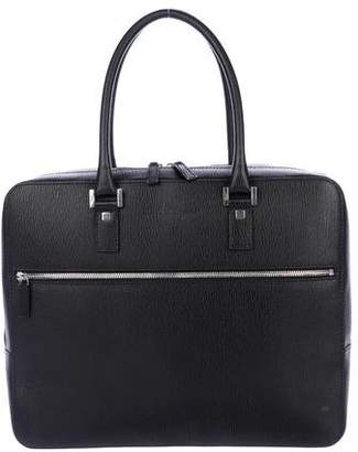 Salvatore Ferragamo Grained Leather Briefcase