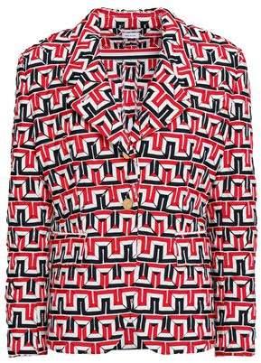 Thom Browne Printed Twill Blazer