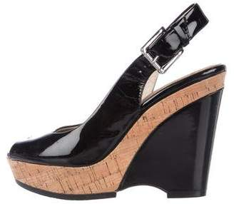 Donald J Pliner Patent Leather Platform Wedges