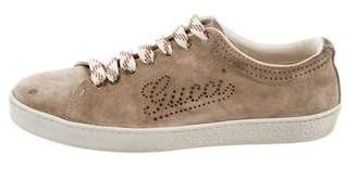 Gucci Perforated Suede Sneakers