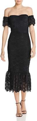 Nightcap Clothing Victorian Flutter Lace Midi Mermaid Dress