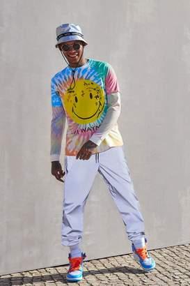 boohoo Lil Wayne Smiley Oversized Tie-Dye T-Shirt