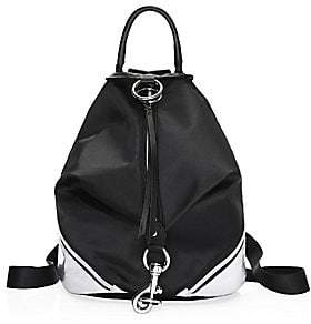 Rebecca Minkoff Women's Julian Metallic Side-Zip Backpack