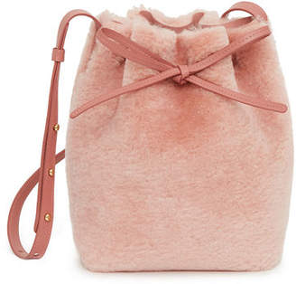 Mansur Gavriel Shearling Mini Bucket Bag