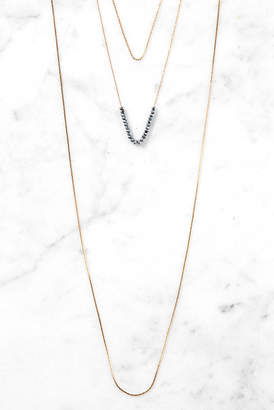 South Moon Under 3 Layer Flat Matte Chain Necklace