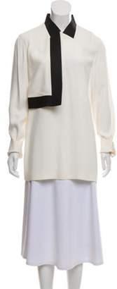 Alexander Wang Long Sleeve Draped Tunic Cream Long Sleeve Draped Tunic
