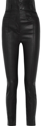 Haider Ackermann - Leather Skinny Pants - Black $2,375 thestylecure.com