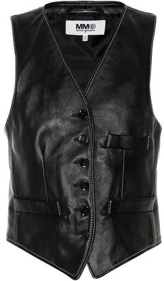 MM6 MAISON MARGIELA Leather vest