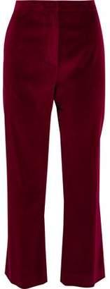 Altuzarra Nettle Cotton-Blend Velvet Bootcut Pants