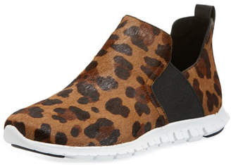 Cole Haan ZeroGrand Ocelot-Print Slip-On Sneaker Booties