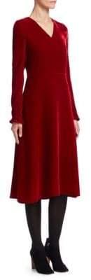 Akris Punto Velvet A-Line Midi Dress