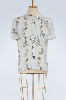 Miu Miu Girls print silk shirt