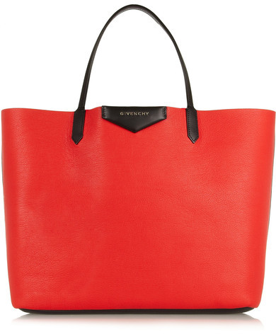 Givenchy Large Antigona Shopping Bag In Red Textured-leather