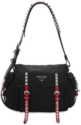 Prada New Vela Nylon Bag W/ Studs