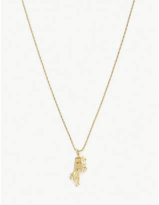 Vanessa Mooney Aries 24ct gold-plated necklace