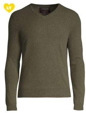 Black & Brown Black Brown V-Neck Cashmere Sweater