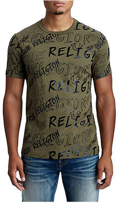 True Religion MENS ILLUSTRATED LOGO GRAPHIC TEE
