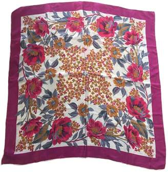Oscar de la Renta Pink Silk Silk handkerchief
