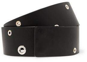 Jil Sander Eyelet-Embellished Leather Belt