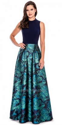Decode 1.8 Keyhole Back Floral Ball Gown $268 thestylecure.com