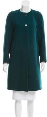 Dries Van Noten Wool Collarless Coat