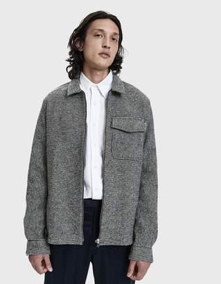 Schnaydermans Schnayderman's Wool Stripe Zip Shirt