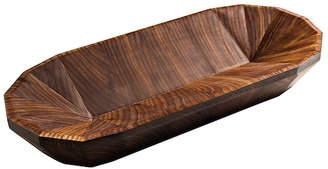 "Calvin Klein Alan & Co. Wooden Bowl ""The Geo Oval"""