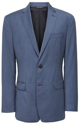 Banana Republic Slim Blue Italian Wool Suit Jacket