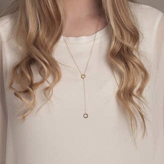 Lulu + Belle Gold Or Silver Y Karma Disc Necklace
