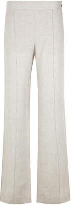 Alcaçuz linen flared trousers