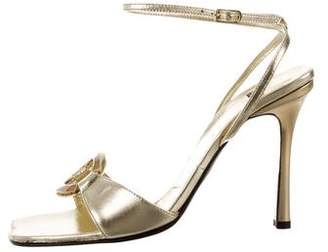 Casadei Metallic Embellished Sandals