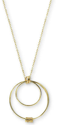 "Argentovivo Multi-Circle Pendant Necklace in Gold-Plated Sterling Silver, 24"" + 2"" extender"