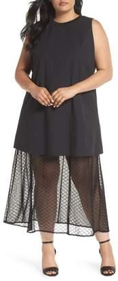 ELVI The Agata Sheer Hem Maxi Dress