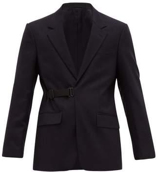 Maison Margiela Strap Fastening Wool Blend Blazer - Mens - Navy