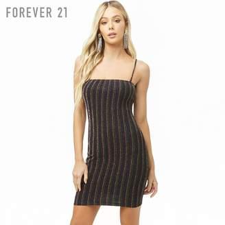 Forever 21 (フォーエバー 21) - Forever 21 グリッターストライプキャミソールワンピース